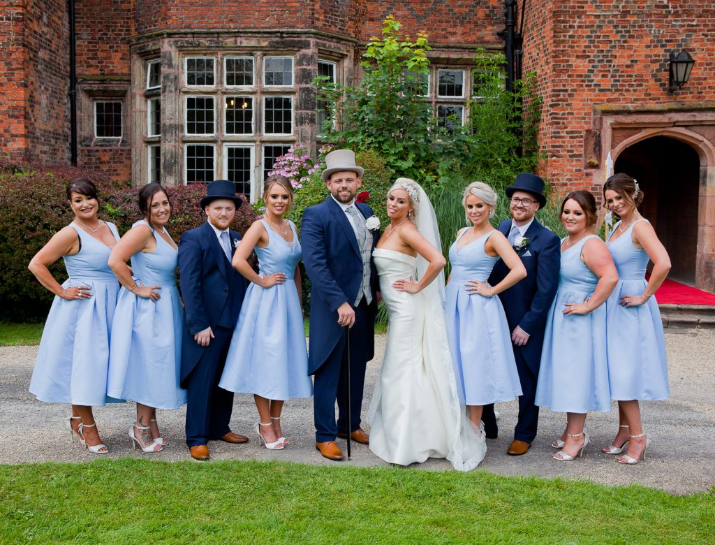 wedding photography in Lancashire at heskinhall