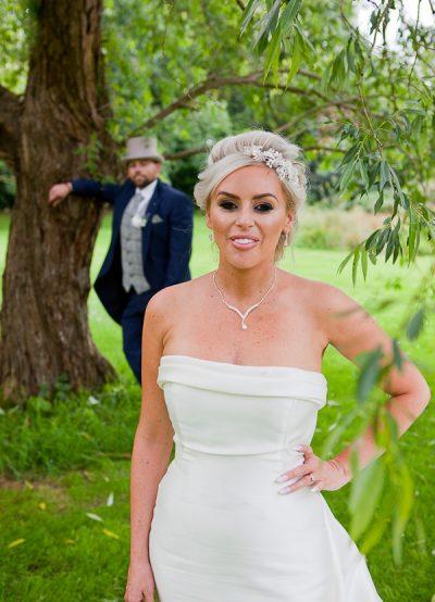 bride photograph at heskin hall lancashire