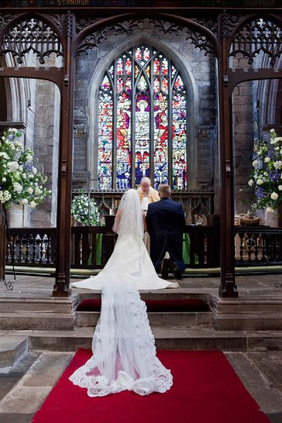 wedding ceremony at st wilfreds standish