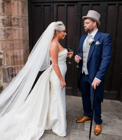 church wedding photograph in lancashire