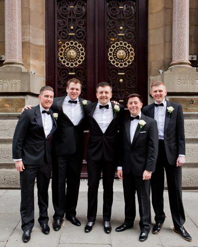 groomsmen at racquet club liverpool