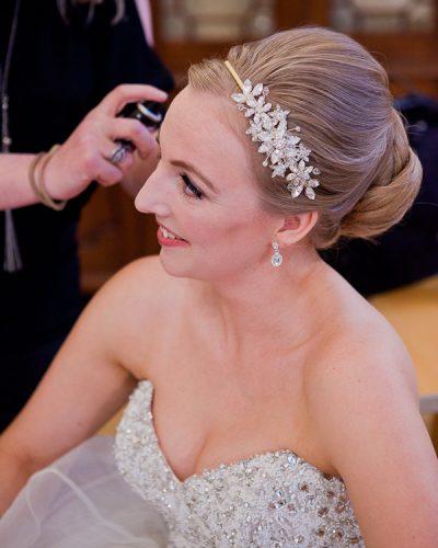 bridal hair at wedding liverpool