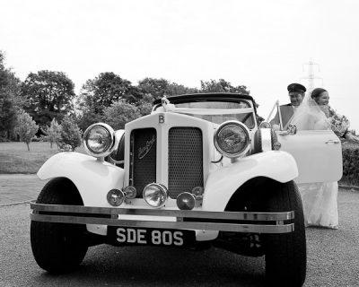 wedding car at lund parish lancashire
