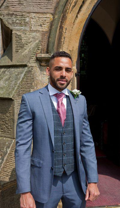groomsman at lancashire wedding venue