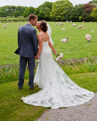 wedding photograph at lund parish lancashire