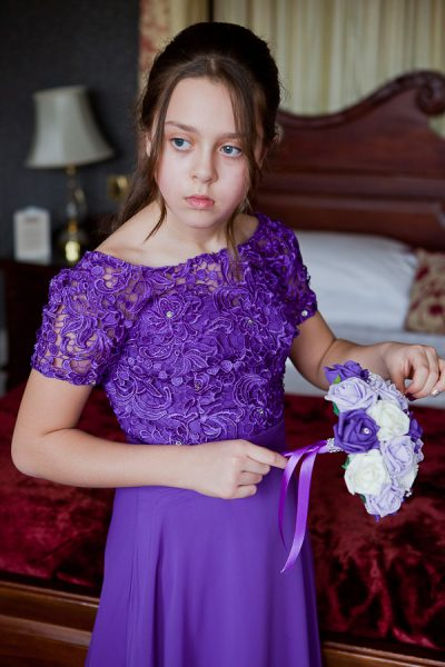 flowergirl at farington lodge lancashire