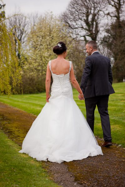 bride and groom at farington lodge lancashire