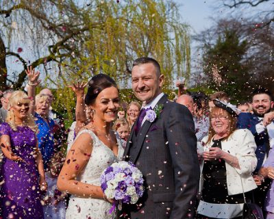 wedding photograph at farington lodge lancashire