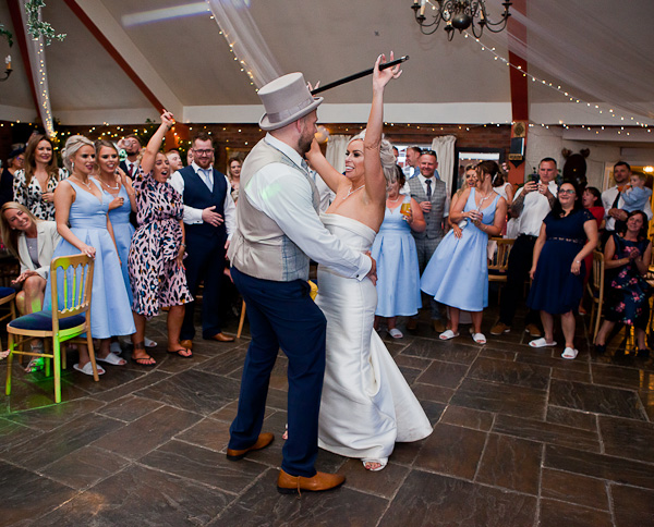 wedding dancing at heskin hall lancashire