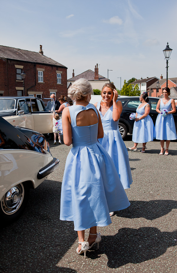 bridesmaids at church standish lancashire