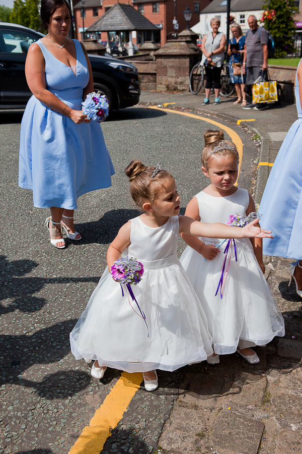 flowergirls at parish church standish lancashire