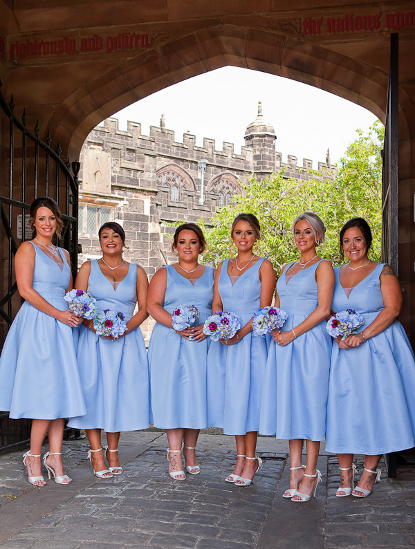 bridesmaids at St Wilfred's church standish lancashire