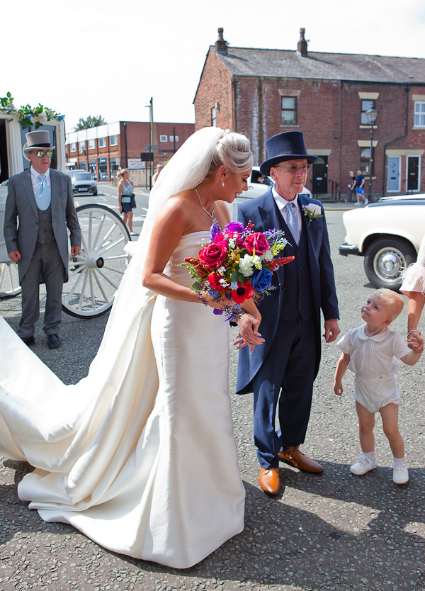 bride at church standish lancashire