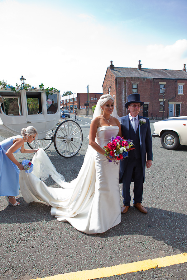 wedding at parish church standish lancashire