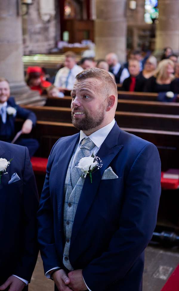 groom at church standish lancashire