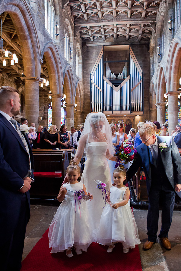 wedding at St Wilfred's standish lancashire