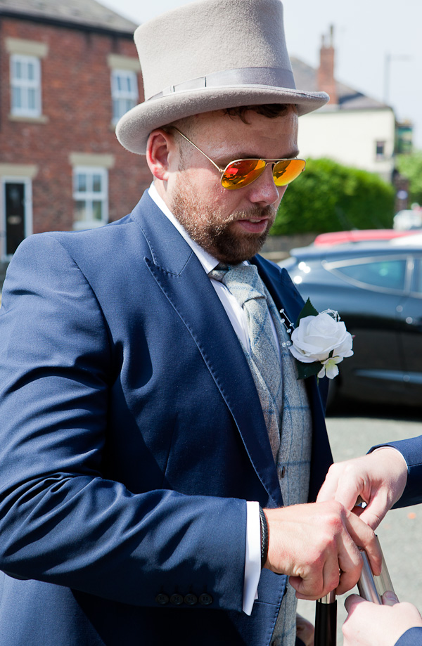 groom at wedding standish lancashire