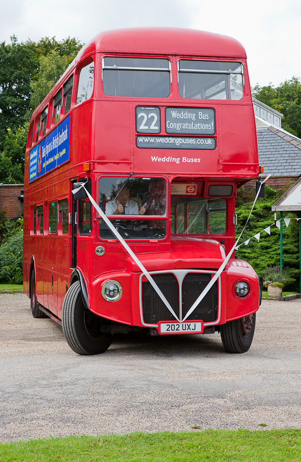 wedding bus at heskin hall lancashire