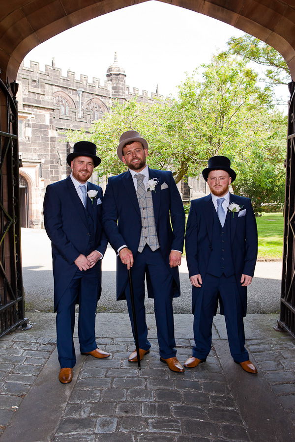 groomsmen at st wilfred's church standish