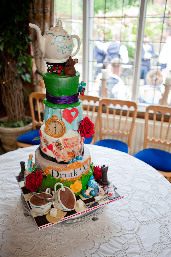 wedding cake at heskin hall lancashire