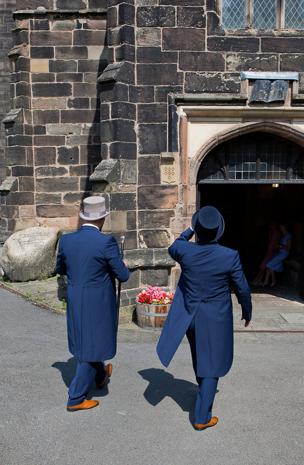 groomsmen at parish church standish lancashire