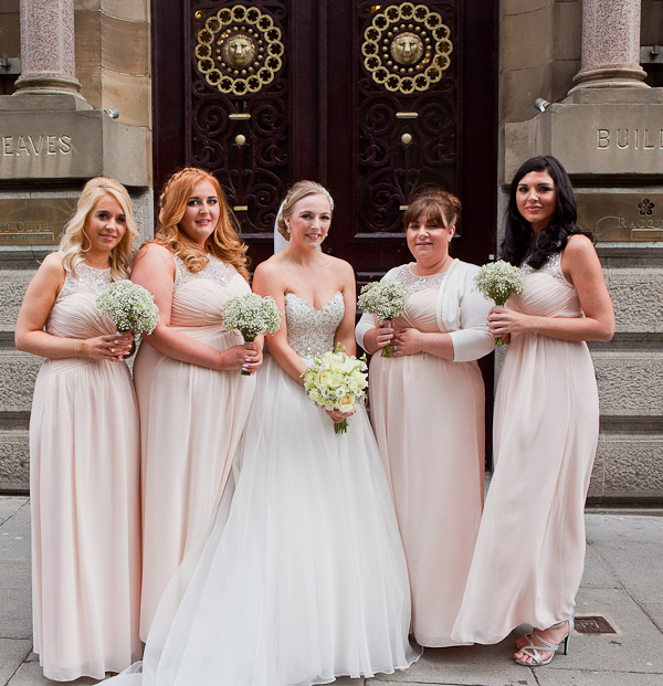 bridesmaids at the racquet club liverpool