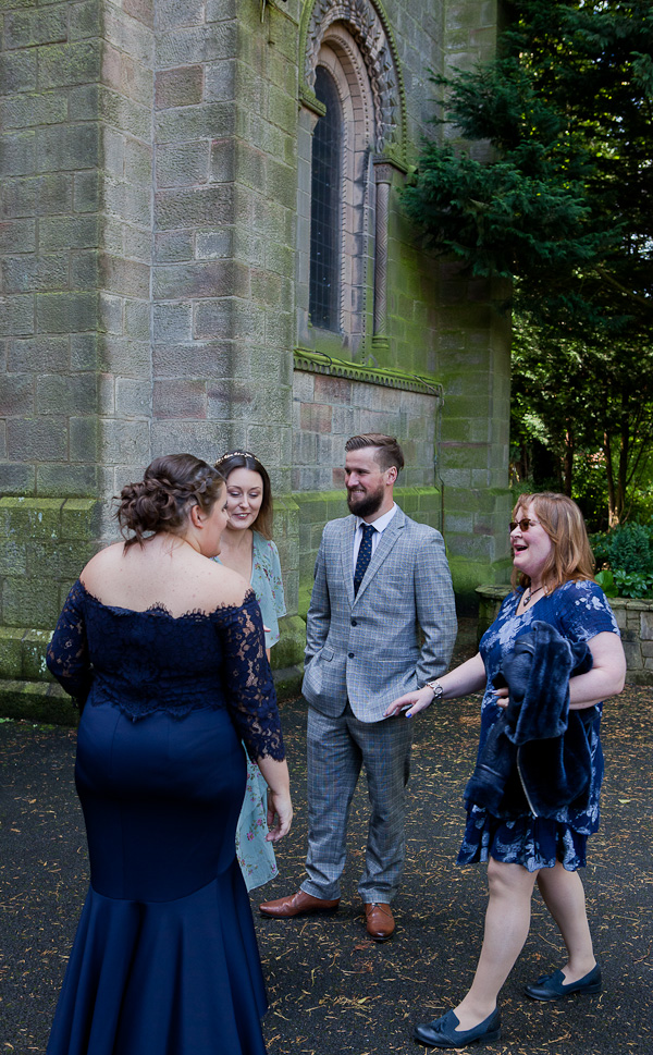 wedding photo at st oswald church