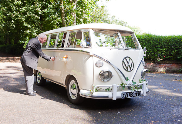 campervan at wedding in manchester