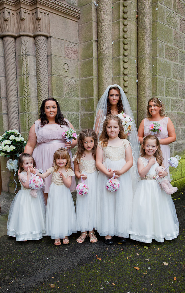 bridesmaids photograph at manchester wedding