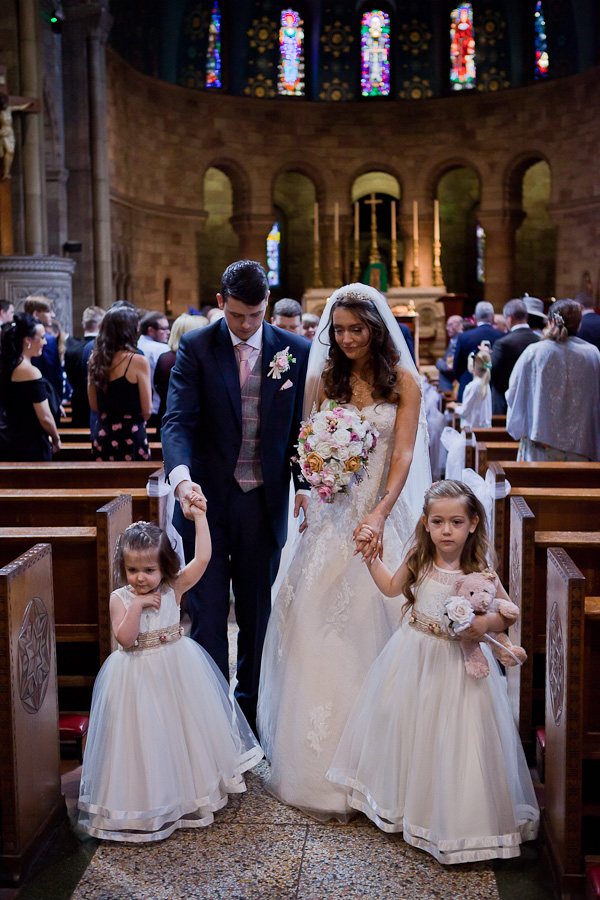 wedding at st oswald church manchester