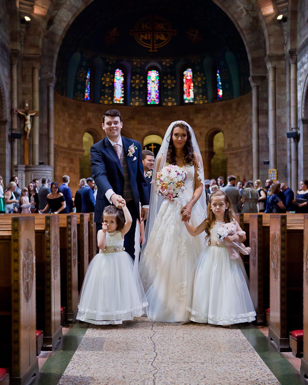 wedding photograph at church manchester