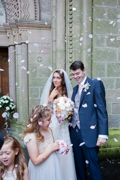 confetti photograph at manchester wedding