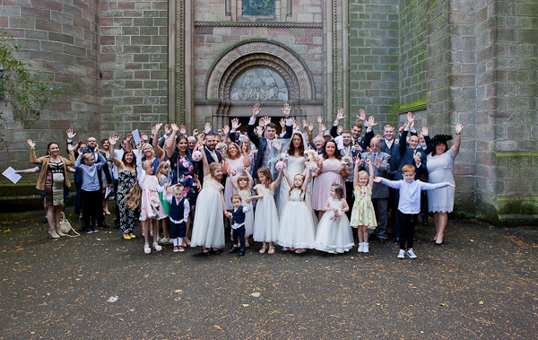 group photograph at manchester wedding