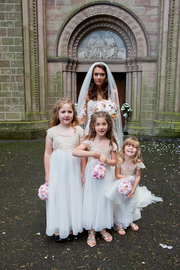 flowergirls at st oswald church haydock