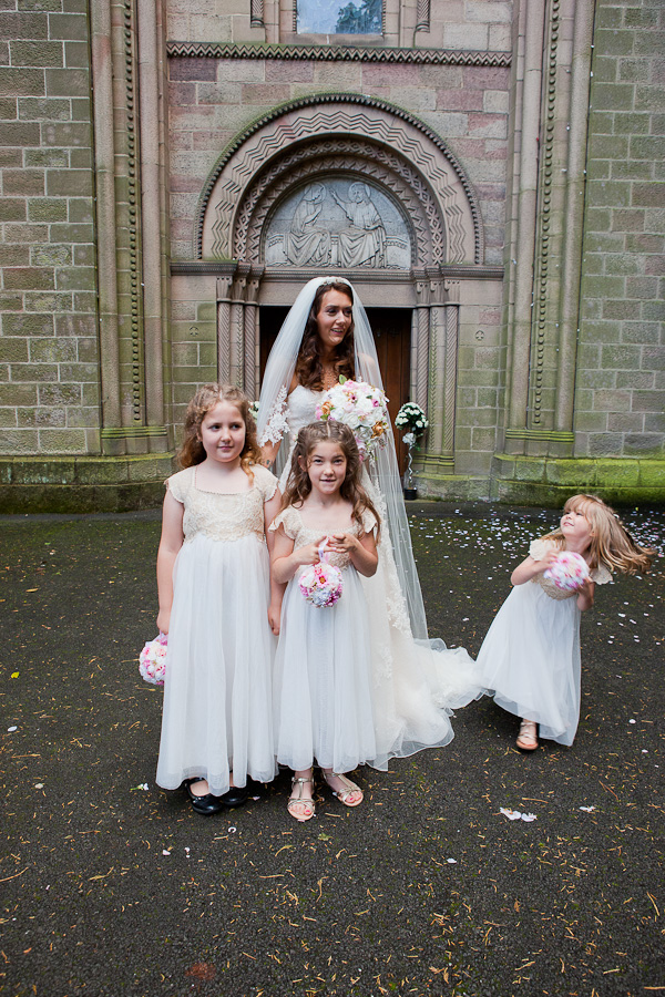 flowergirls photograph at manchester wedding