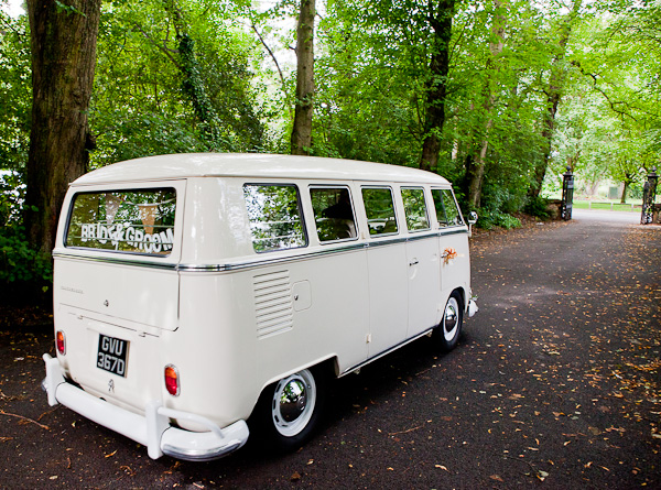 wedding campervan photograph manchester