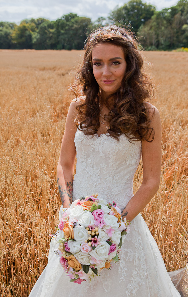 wedding photograph in cornfield manchester