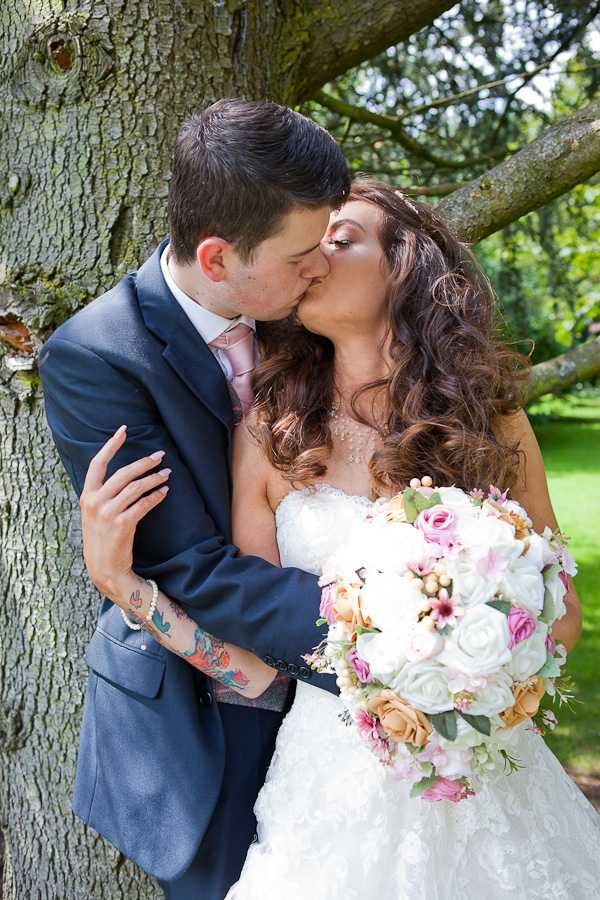 couple kissing photo manchester wedding