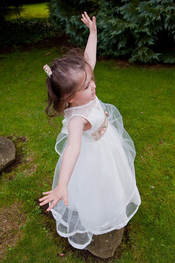 flowergirl photograph at manchester wedding