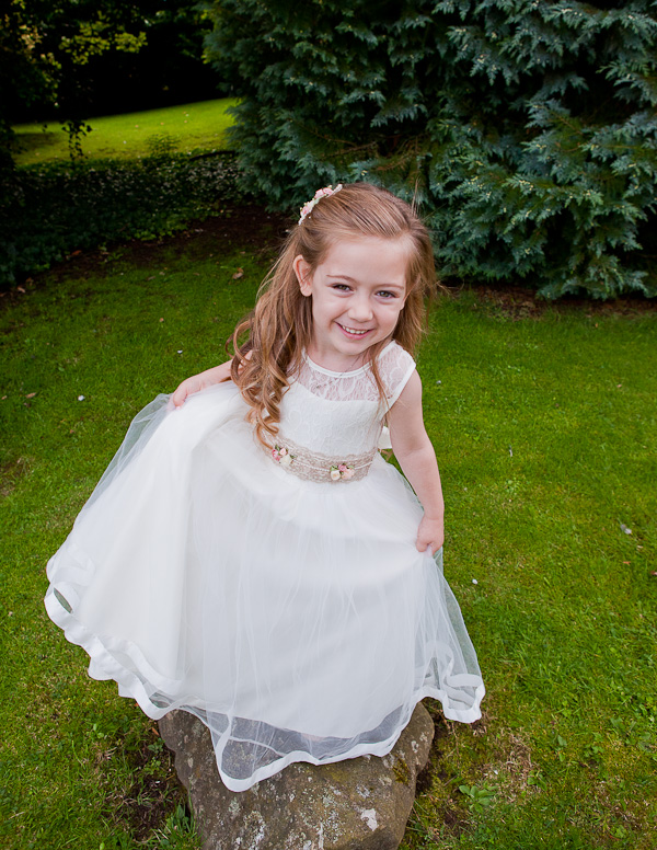 flowergirl dress at wedding manchester