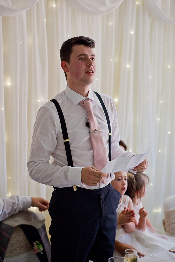 groom speech photograph at manchester wedding