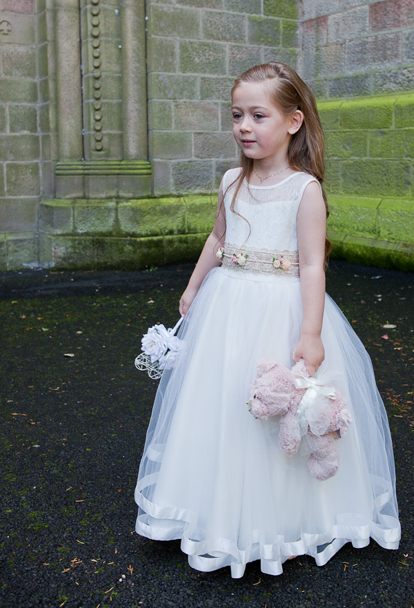 flowergirl at wedding manchester