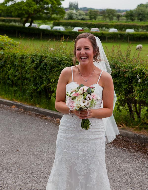 bride at preston wedding