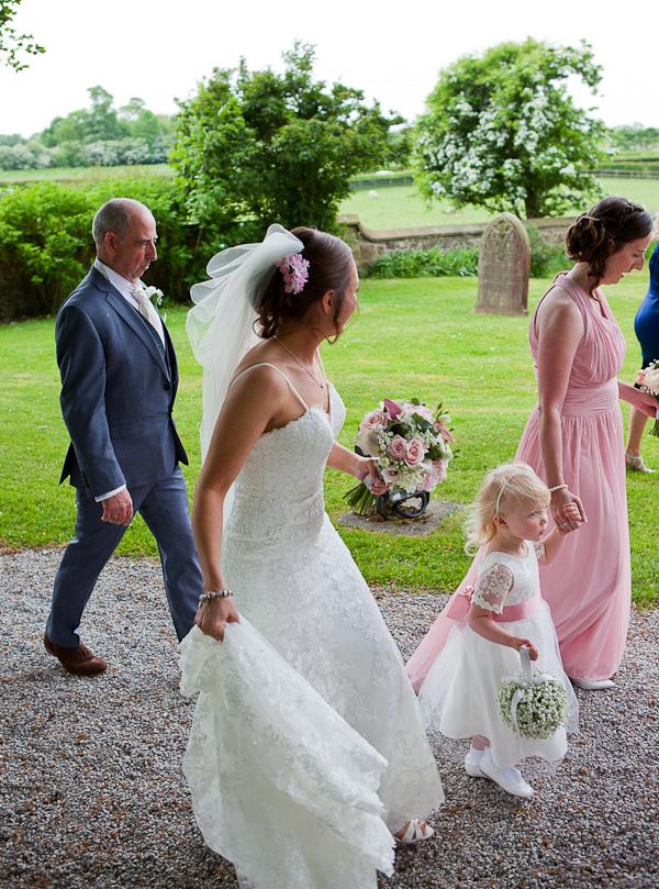 bridal part at church wedding