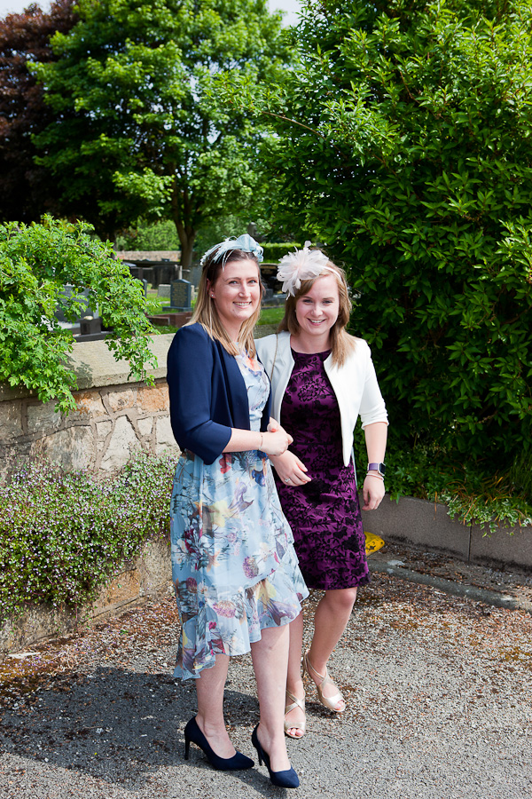 wedding guests at lund parish church