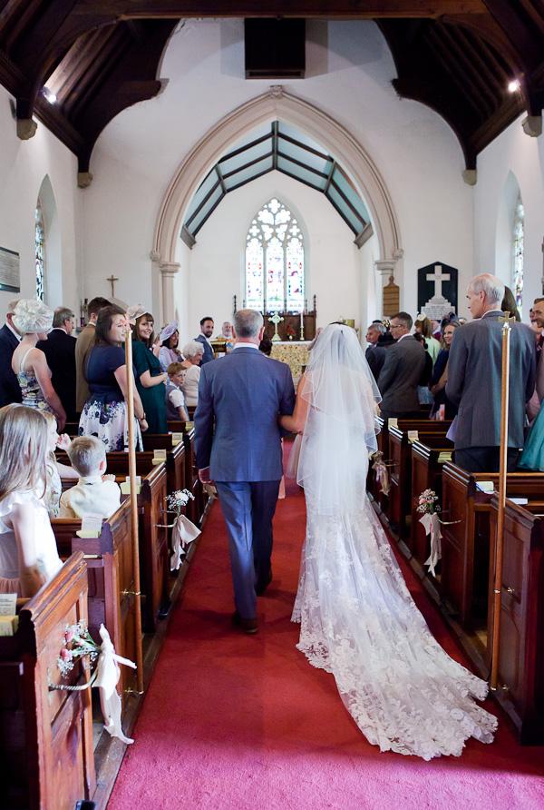 bride at lund parish church lancashire