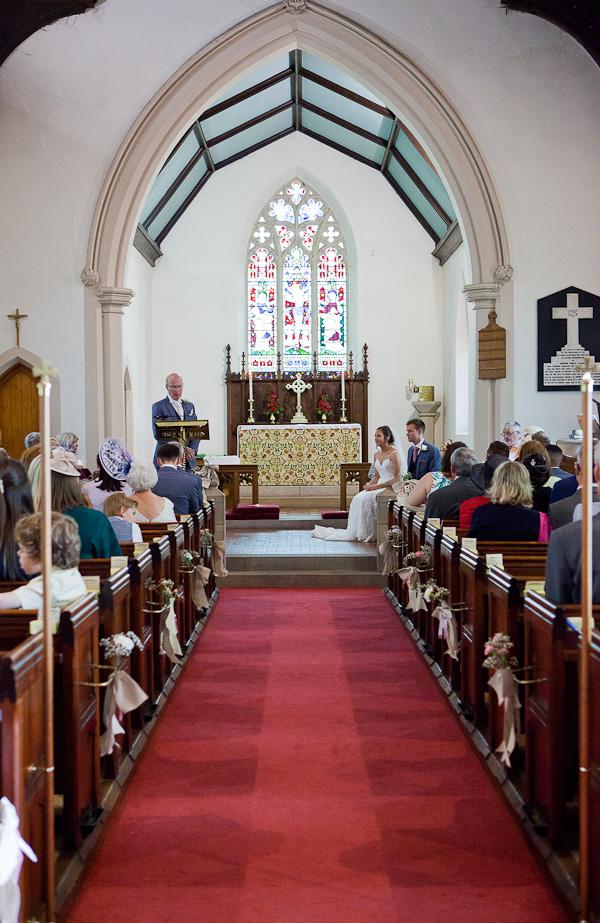 ceremony at lund parish church preston