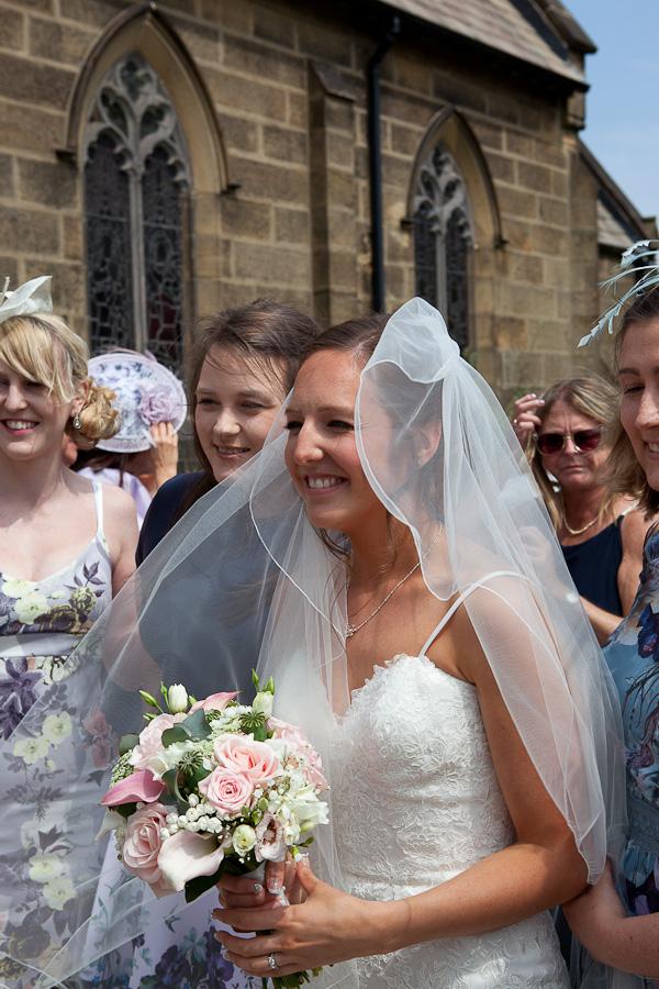 bride at lund parish church preston