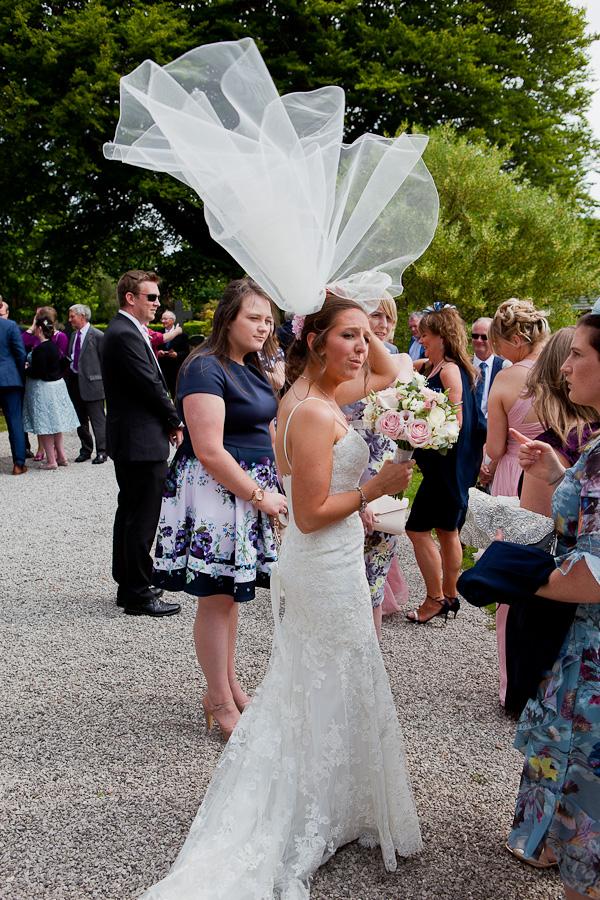 bride at lancashire wedding venue