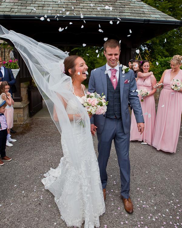 bride and groom lund parish church preston